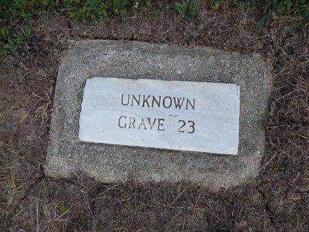 UNKNOWN, GRAVE 23 - Jefferson County, Illinois | GRAVE 23 UNKNOWN - Illinois Gravestone Photos