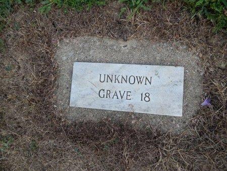 UNKNOWN, GRAVE 18 - Jefferson County, Illinois | GRAVE 18 UNKNOWN - Illinois Gravestone Photos