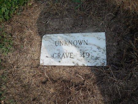 UNKNOWN, GRAVE 49 - Jefferson County, Illinois   GRAVE 49 UNKNOWN - Illinois Gravestone Photos