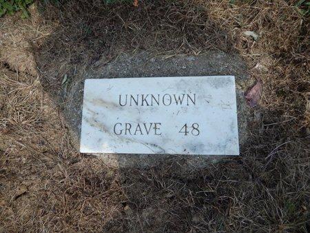 UNKNOWN, GRAVE 48 - Jefferson County, Illinois | GRAVE 48 UNKNOWN - Illinois Gravestone Photos