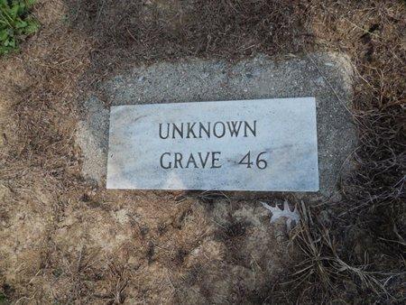 UNKNOWN, GRAVE 46 - Jefferson County, Illinois | GRAVE 46 UNKNOWN - Illinois Gravestone Photos