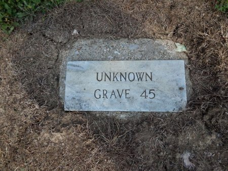 UNKNOWN, GRAVE 45 - Jefferson County, Illinois   GRAVE 45 UNKNOWN - Illinois Gravestone Photos