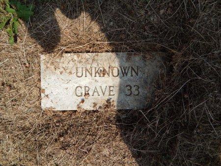 UNKNOWN, GRAVE 33 - Jefferson County, Illinois | GRAVE 33 UNKNOWN - Illinois Gravestone Photos