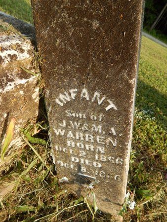 WARREN, INFANT - Jefferson County, Illinois | INFANT WARREN - Illinois Gravestone Photos