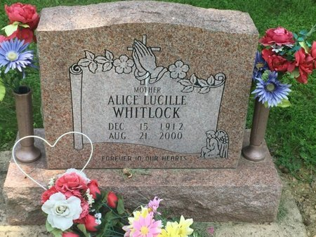 WHITLOCK, ALICE LUCILLE - Jefferson County, Illinois | ALICE LUCILLE WHITLOCK - Illinois Gravestone Photos