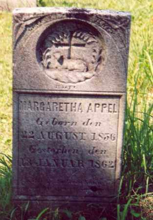 APPEL, MARGARETHA - Jo Daviess County, Illinois | MARGARETHA APPEL - Illinois Gravestone Photos