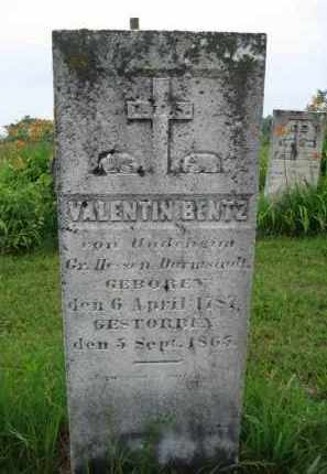 BENTZ, VALENTIN - Jo Daviess County, Illinois | VALENTIN BENTZ - Illinois Gravestone Photos