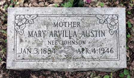 JOHNSON AUSTIN, MARY ARVILLA - Kane County, Illinois | MARY ARVILLA JOHNSON AUSTIN - Illinois Gravestone Photos