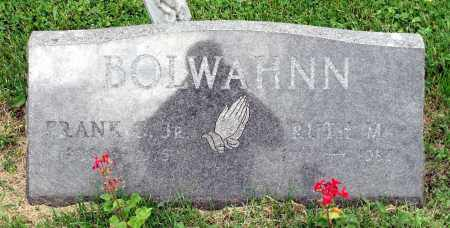 BOLWAHNN, RUTH M. - Kane County, Illinois | RUTH M. BOLWAHNN - Illinois Gravestone Photos