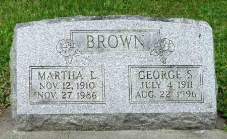 BROWN, MARTHA L. - Kane County, Illinois | MARTHA L. BROWN - Illinois Gravestone Photos