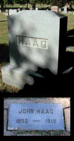 HAAG, JOHN - Kane County, Illinois   JOHN HAAG - Illinois Gravestone Photos