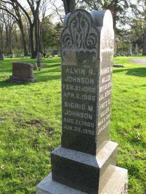 JOHNSON, SIGRID - Kane County, Illinois | SIGRID JOHNSON - Illinois Gravestone Photos