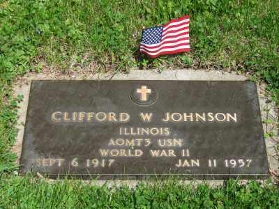 JOHNSON, CLIFFORD W. - Kane County, Illinois   CLIFFORD W. JOHNSON - Illinois Gravestone Photos