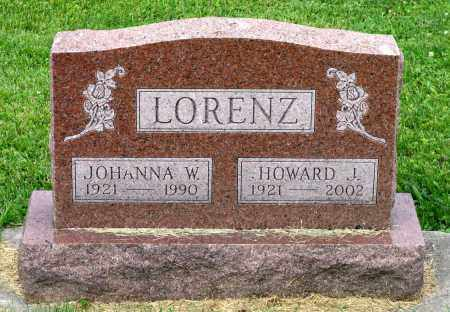 LORENZ, JOHANNA W. - Kane County, Illinois | JOHANNA W. LORENZ - Illinois Gravestone Photos