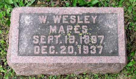 MAPES, W. WESLEY - Kane County, Illinois   W. WESLEY MAPES - Illinois Gravestone Photos