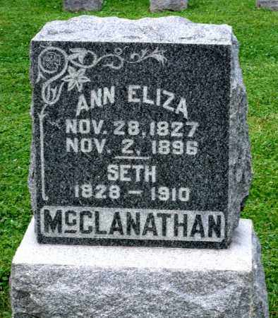 MCCLANATHAN, ANN ELIZA - Kane County, Illinois | ANN ELIZA MCCLANATHAN - Illinois Gravestone Photos