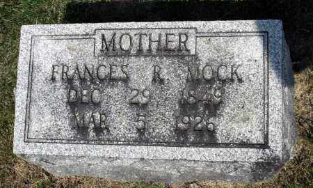 MOCK, FRANCES R. - Kane County, Illinois | FRANCES R. MOCK - Illinois Gravestone Photos