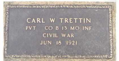TRETTIN, CARL W. - Kane County, Illinois | CARL W. TRETTIN - Illinois Gravestone Photos