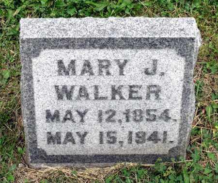 WALKER, MARY J. - Kane County, Illinois | MARY J. WALKER - Illinois Gravestone Photos