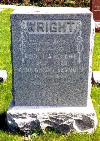 WARD WRIGHT, RACHEL ANNA - Kane County, Illinois | RACHEL ANNA WARD WRIGHT - Illinois Gravestone Photos