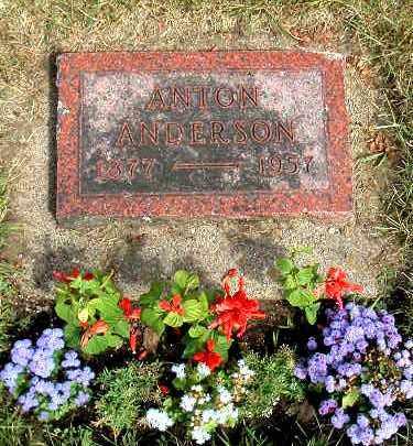 ANDERSON, ANTON - Kendall County, Illinois | ANTON ANDERSON - Illinois Gravestone Photos