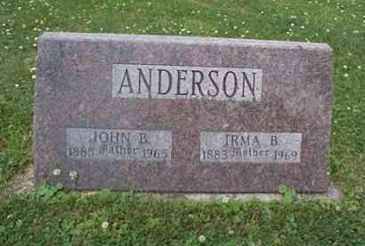 ANDERSON, IRMA - Kendall County, Illinois | IRMA ANDERSON - Illinois Gravestone Photos