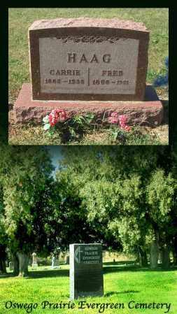 HAAG, CARRIE - Kendall County, Illinois | CARRIE HAAG - Illinois Gravestone Photos