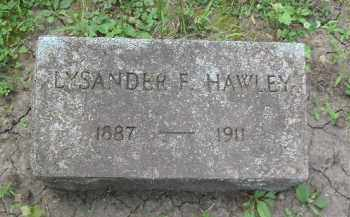HAWLEY, LYSANDER - Kendall County, Illinois | LYSANDER HAWLEY - Illinois Gravestone Photos