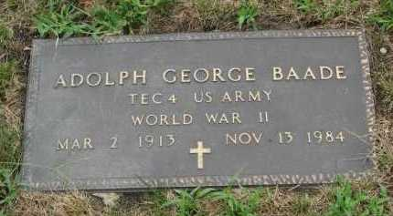 BAADE, ADOLPH GEORGE - Lake County, Illinois   ADOLPH GEORGE BAADE - Illinois Gravestone Photos