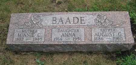 TONNE BAADE, MINNIE C - Lake County, Illinois | MINNIE C TONNE BAADE - Illinois Gravestone Photos