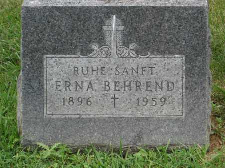 BEHREND, ERNA - Lake County, Illinois | ERNA BEHREND - Illinois Gravestone Photos