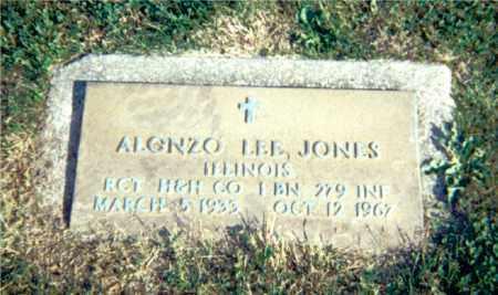 JONES, ALONZO LEE - Lawrence County, Illinois | ALONZO LEE JONES - Illinois Gravestone Photos