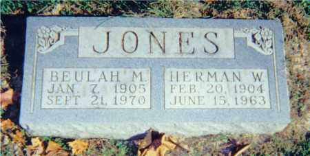 JONES, BEULAH M. - Lawrence County, Illinois | BEULAH M. JONES - Illinois Gravestone Photos