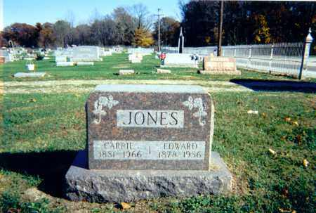 JONES, CARRIE - Lawrence County, Illinois | CARRIE JONES - Illinois Gravestone Photos