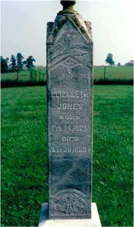 JONES, ELIZABETH - Lawrence County, Illinois | ELIZABETH JONES - Illinois Gravestone Photos