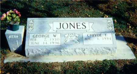 JONES, GEORGE W. - Lawrence County, Illinois | GEORGE W. JONES - Illinois Gravestone Photos