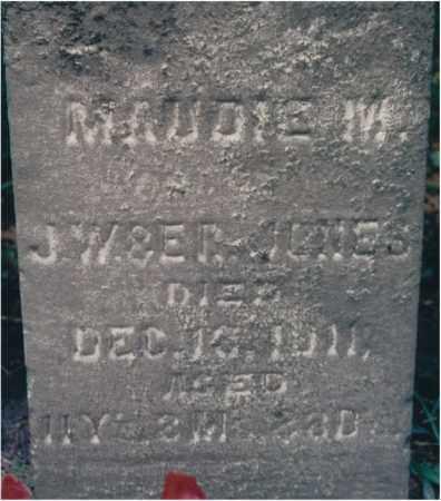 JONES, MAUDIE M. - Lawrence County, Illinois | MAUDIE M. JONES - Illinois Gravestone Photos