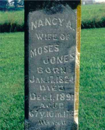 JONES, NANCY A. - Lawrence County, Illinois | NANCY A. JONES - Illinois Gravestone Photos