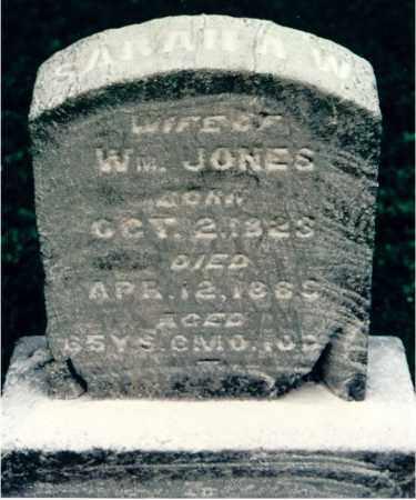 JONES, SARAH W. - Lawrence County, Illinois | SARAH W. JONES - Illinois Gravestone Photos