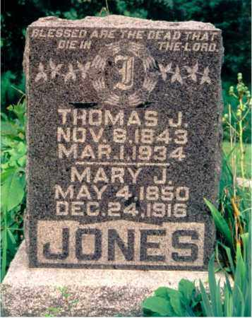 JONES, MARY J. - Lawrence County, Illinois | MARY J. JONES - Illinois Gravestone Photos