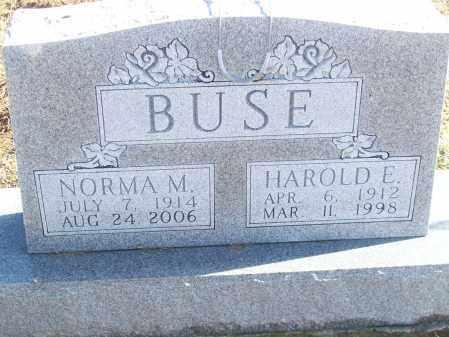 BUSE, NORMA M. - Logan County, Illinois | NORMA M. BUSE - Illinois Gravestone Photos