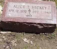 HICKEY, ALICE T. - Logan County, Illinois | ALICE T. HICKEY - Illinois Gravestone Photos