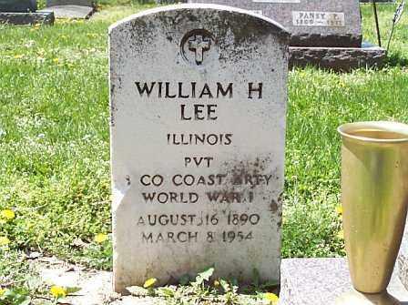 LEE, WILLIAM H. - Logan County, Illinois   WILLIAM H. LEE - Illinois Gravestone Photos