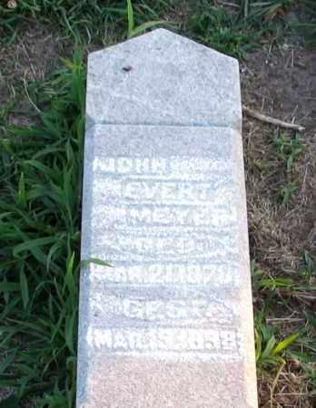 MEYER, JOHN EVERT - Logan County, Illinois   JOHN EVERT MEYER - Illinois Gravestone Photos