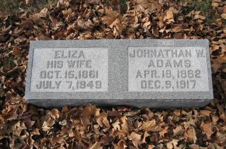 ADAMS, JOHNATHAN WRIGHT - Marion County, Illinois | JOHNATHAN WRIGHT ADAMS - Illinois Gravestone Photos
