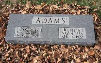ADAMS, JAMES T. - Marion County, Illinois   JAMES T. ADAMS - Illinois Gravestone Photos