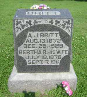 DEADMOND BRITT, BERTHA RACHAEL - Marion County, Illinois | BERTHA RACHAEL DEADMOND BRITT - Illinois Gravestone Photos