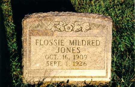 JONES, FLOSSIE MILDRED - Marion County, Illinois | FLOSSIE MILDRED JONES - Illinois Gravestone Photos