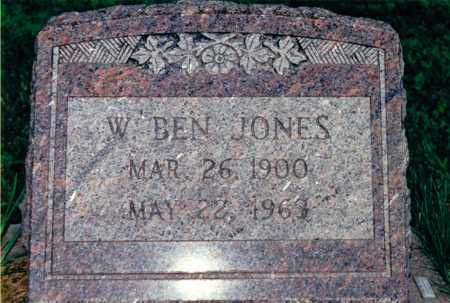 JONES, W. BEN - Marion County, Illinois | W. BEN JONES - Illinois Gravestone Photos