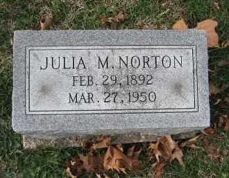 NORTON, JULIA M. - Marion County, Illinois | JULIA M. NORTON - Illinois Gravestone Photos